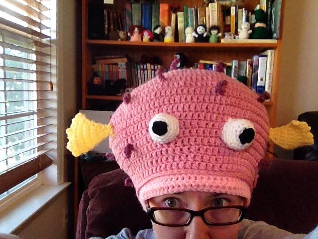 puffer fish had that is an example of crochet by jody wallace who is also an author