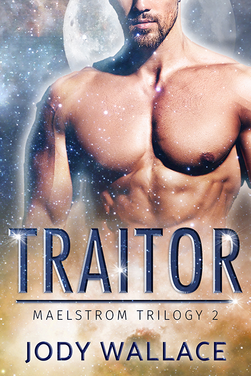 the cover for traitor by jody wallace is some manchest with a space background
