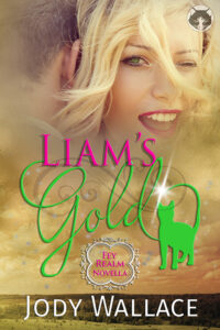 the book cover for liam's gold by jody wallace