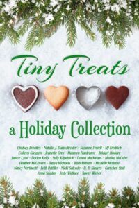an anthology called tiny treats that is winter holiday themed